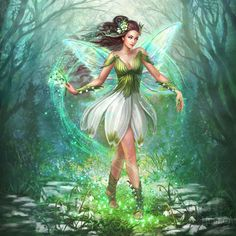 Spring Flower Fairies © 2017 art on Behance Spring Fairy, Flower Fairies, Princess Zelda, Disney Princess, Faeries, Spring Flowers, Elves, Tinkerbell, Disney Characters