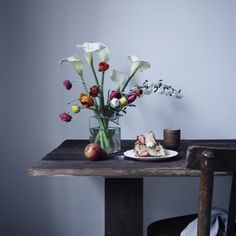 Flowers and a slow breakfast