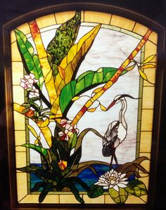 This 4' x 6 '  window  is also a common view out the windows of this home. The grey heron and water Lillie's were the owners favorite part