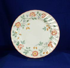 Churchill England Pattern Briar Rose White Dinner Plate bfe1728 #Churchill