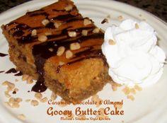 Melissa's Southern Style Kitchen: Caramel, Chocolate & Almond Gooey Butter Cake