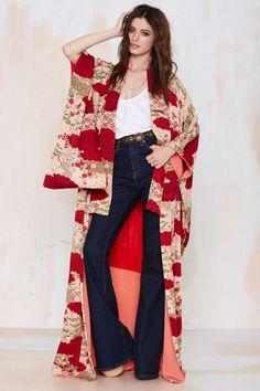 Vintage Kiku Floral Kimono