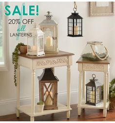 20% off all lanterns