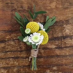 """ #buttonhole #craspedia #weddingflowers #killamontwedding"" Photo taken by @abbywebbflowers on Instagram, pinned via the InstaPin iOS App! http://www.instapinapp.com (04/03/2015)"