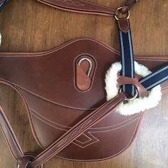Horse English Brown Two Tone Belly Guard Girth Five Point Breast Collar