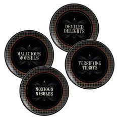 Grasslands Road Pretty Wicked Witch Hat Tidbit Appetizer Plates, Four Styles, Set of 4 Grasslands Road,http://www.amazon.com/dp/B0056Y2ONG/ref=cm_sw_r_pi_dp_mYXttb11ES0YPH4Z