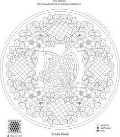 butterfly flower circle 2