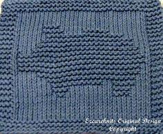 Knitting Cloth Pattern  PIGGY BANK  PDF  Instant by ezcareknits, $2.85