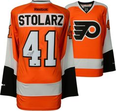 4ea58dfde99 Anthony Stolarz Philadelphia Flyers Signed 50th Annive Season Orange Jersey.  Home Run Direct · Official Authentic Autographed ...