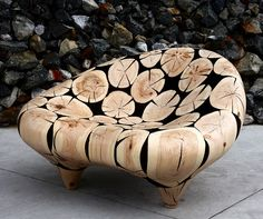 This wood chair is very cool, but a think my back wouldn't like not having much support.