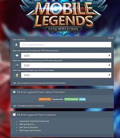 Mobile legends hack - generator diamonds and battle points free