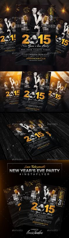 Nye Flyer Template  Flyer Template Nye And Event Flyers
