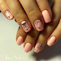 Having short nails is extremely practical. The problem is so many nail art and manicure designs that you'll find online Nail Art Design Gallery, Best Nail Art Designs, Indian Nail Designs, Awesome Designs, Nail Deco, Indian Nails, Indian Nail Art, Indian Henna, Henna Nails