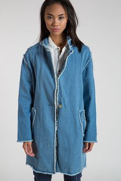 Frayed End Jean Jacket - Koshka - Shop Clothing, Shoes and Accessories
