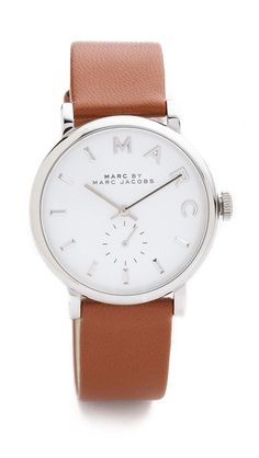 leather baker watch / marc by marc jacobs