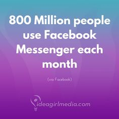 Are you planning to include Facebook Messenger in your social media strategy? 800 million people think you should...  ;)
