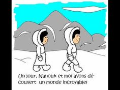 Cute for children (in french). French Teaching Resources, Teaching French, Core French, French Class, Polar Bear Video, French Basics, Drama Education, Reading Club, Arctic Animals