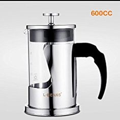 Christmas deals week CXYY Method stainless steel coffee pot home French tea pot 600ml