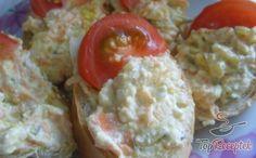 Ellenállhatatlan túrós kence   TopReceptek.hu Tzatziki, Mashed Potatoes, Grains, Eggs, Meat, Chicken, Breakfast, Ethnic Recipes, Food