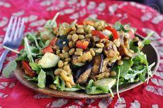 curry lentil and eggplant Salad