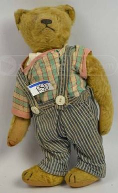 shopgoodwill.com ANTIQUE c1926 Teddy Bear Jointed Head Arms.