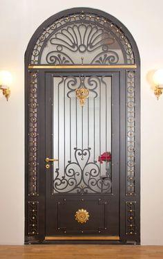 Single Door Design, Front Door Design, Art Nouveau, Art Deco, Double Doors Exterior, Iron Gate Design, Window Grill Design, Wrought Iron Decor, Arched Doors