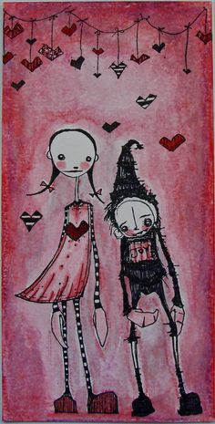 Artwork created by Yvonne Koops using rubber stamps designed by Daniel Torrente for Stampotique Originals