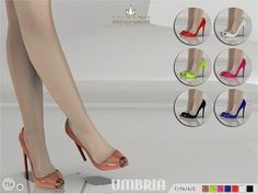 Madlen Umbria Shoes by MJ95 at TSR via Sims 4 Updates