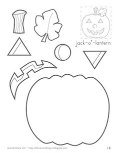 Alana Lee Designs ~ Custom Photo Products with Personality: Holiday Cutting Crafts for Kids. Jack-O'-Lantern Pumpkin Halloween Crafts For Kids, Kids Crafts, Toddler Crafts, Preschool Crafts, Holiday Crafts, Halloween Crafts Kindergarten, Preschool Halloween Activities, Fall Arts And Crafts, Preschool Colors