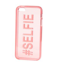 Get ready for your #Selfie with this light pink smartphone case. Fits iPhone 5/5s. | H&M Pastels