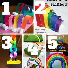 R is for rainbow...3D rainbow crafts that encourage spatial thinking for preschoolers