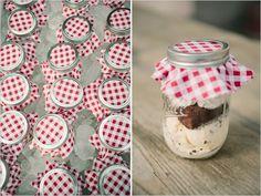 Pin for Later: 21 Mason Jar DIYs For the Cutest Wedding Imaginable Mason Jar Ice Cream Bar