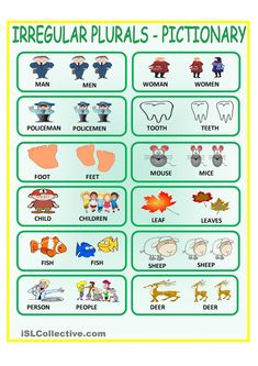 Visuals to show irregular plurals. Irregular Plural Nouns, Singular And Plural Nouns, Nouns And Verbs, Learn English Grammar, English Lessons, English Vocabulary, Teaching English, Speech Language Therapy, Speech Therapy Activities
