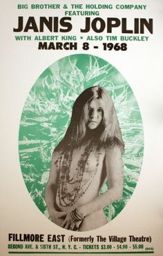 Janis Joplin ~ at the Filmore East 1968 .. I was there.!