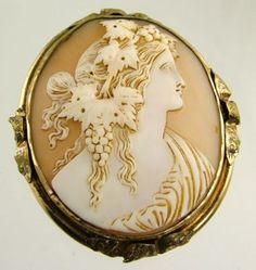 Antique Cameo Jewelry From Italy | SUPERB ANTIQUE VICTORIAN CAMEO