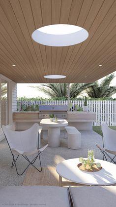 Outside Living, Outdoor Living, Outdoor Spaces, Outdoor Decor, Alfresco Designs, Bungalow Renovation, Alfresco Area, House Deck, Hamptons House