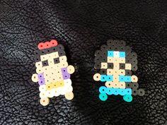 Handmade Aladdin perler bead Chibis / Lanyard by CarpeLibrumEP