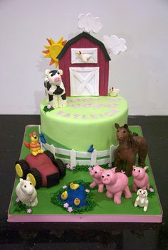 Orion would love this!!!    Great Ideas For Kid's Birthday Cakes »Farm Cake