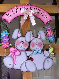 New Vintage Door Yards 66 Ideas Foam Crafts, Wooden Crafts, Craft Stick Crafts, Diy And Crafts, Bunny Crafts, Easter Crafts, Happy Easter, Easter Bunny, Bunny Face