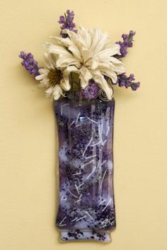Fused glass wall vase More