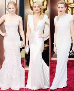 2014 Oscars: Red Carpet Fashion Trends - Pale, Icy Shades. #oscars #oscars2015 #oscarsceremony #Hollywood #celebrities