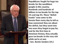 We ♥ Bernie Sanders! Once again, he's right.   Posted on the Being Liberal fan page.