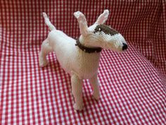 Knitted Bull Terrier, from another angle