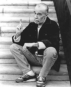 George Carlin............. May 12,1937--June 22,2008.......... Born in Manhattan, NY..... He died of Heart failure in santa Monica,CA. He was cremated ,and had no public religious services..... his ashes scattered.
