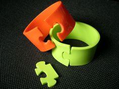 Puzzle bracelets | Jewelry design by Alberto Leonardo, via Behance