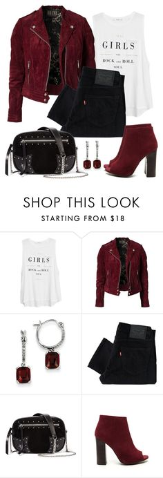 """""""Untitled #1169"""" by gallant81 ❤ liked on Polyvore featuring MANGO, Jofama, Kevin Jewelers, Levi's and Karl Lagerfeld"""