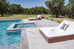 New Build Modern Farmhouse Home Tour with Holly Christian Hayes - Back Patio - Modern Back Yard - Pool - Resort Style Pool