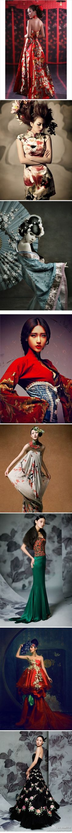 We are talking about a Chinese-style dress~~like it wiil share it Oriental Fashion, Asian Fashion, High Fashion, Chinese Fashion, Fashion Women, Fashion Vestidos, Fashion Dresses, Asian Style, Chinese Style