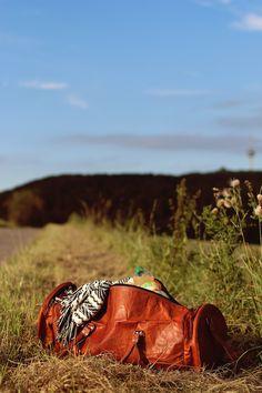 Reisetasche Gusti Leder Echtleder Weekender Vintage braun Lederreisetasche Sporttasche