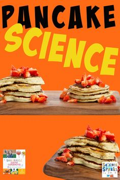 Create pancakes using different ingredients. Easy kitchen science experiment for kids perfect for pancake day. Biology For Kids, Chemistry For Kids, Science Projects For Kids, Science Experiments Kids, Science For Kids, Kitchen Science, How To Make Pancakes, Pancake Day